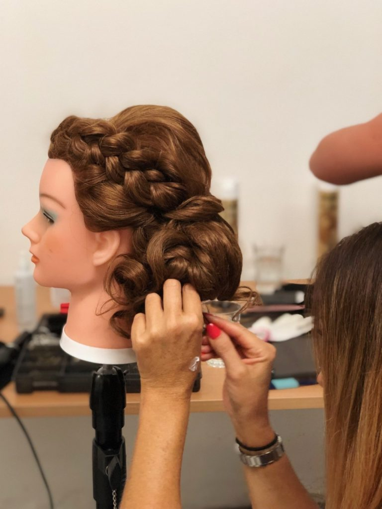 hair up & bridal hairstyling courses - london manchester birmingham