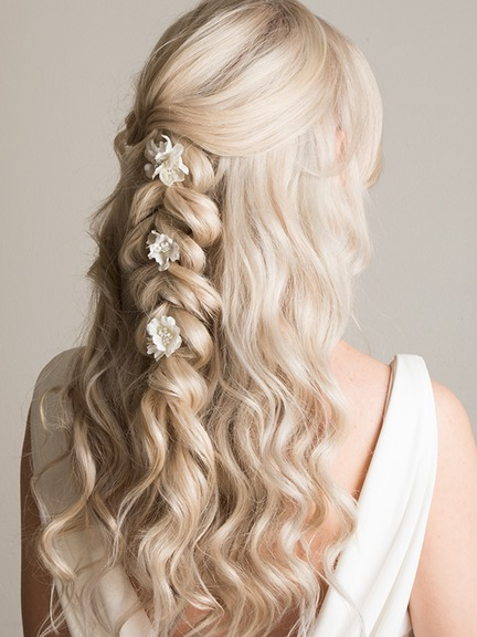 beachy waves ahlf up hair style fro long thick heavy hair by Pam Wrigley