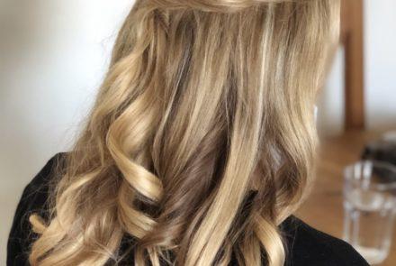 blow-dry bridal hair style tutorial Pam Wrigley