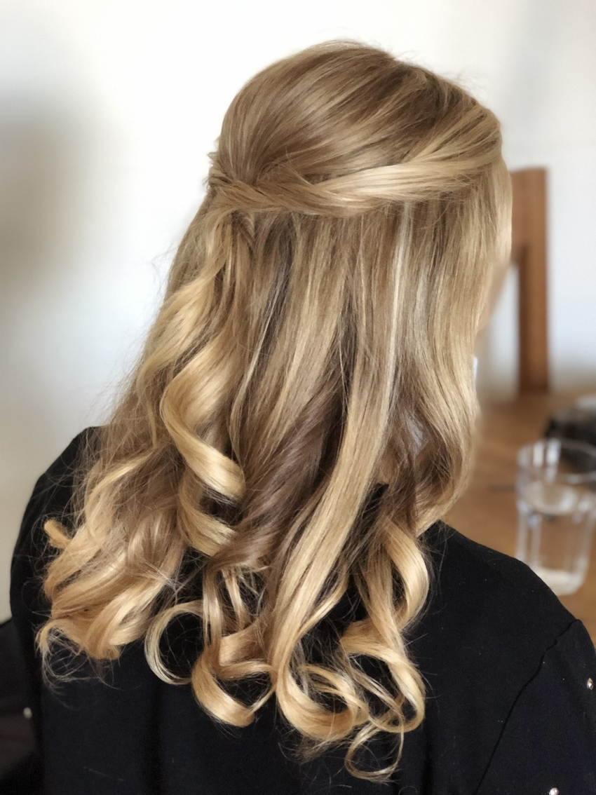 blow-dry bridal hair style tutorial Pam Wrigley