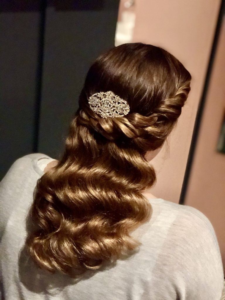 vintage waves bridal hairstyle with hollywood waves and curls by Pam Wrigley