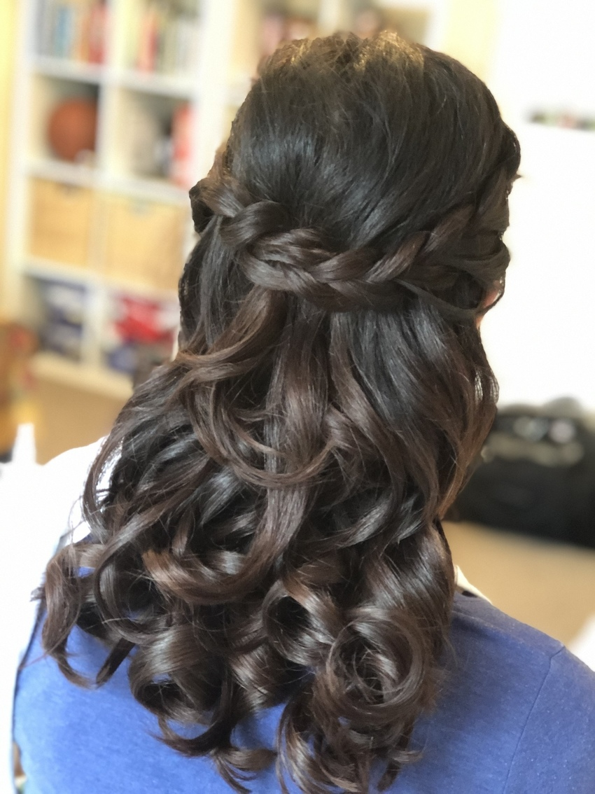 curly blow dry tutorial wedding hairstyle Pam Wrigley
