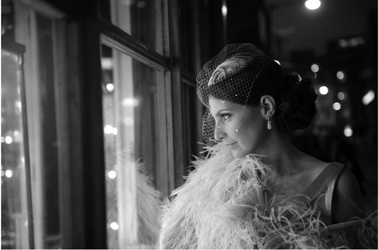 vintage hairstyle bridal by Pam Wrigley