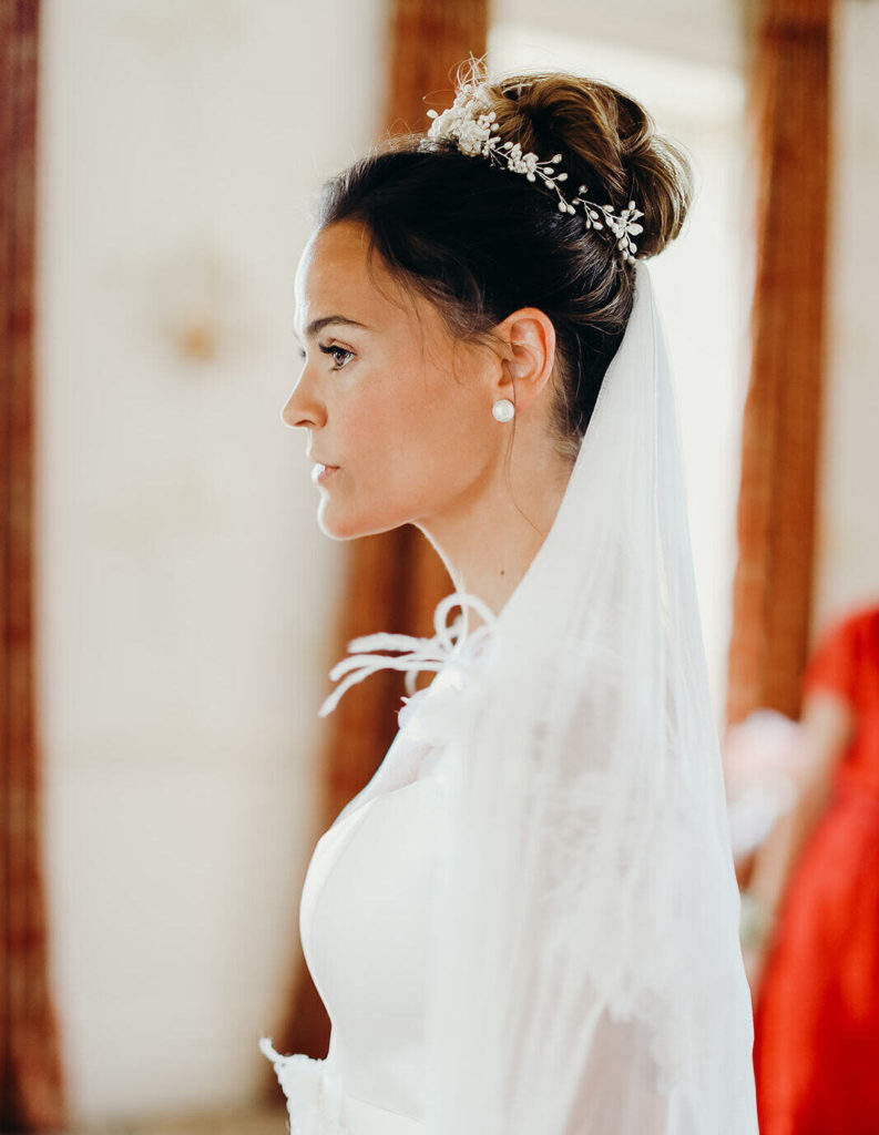 high bun bridal hairstyle tutorial wedding up-do by Pam Wrigley