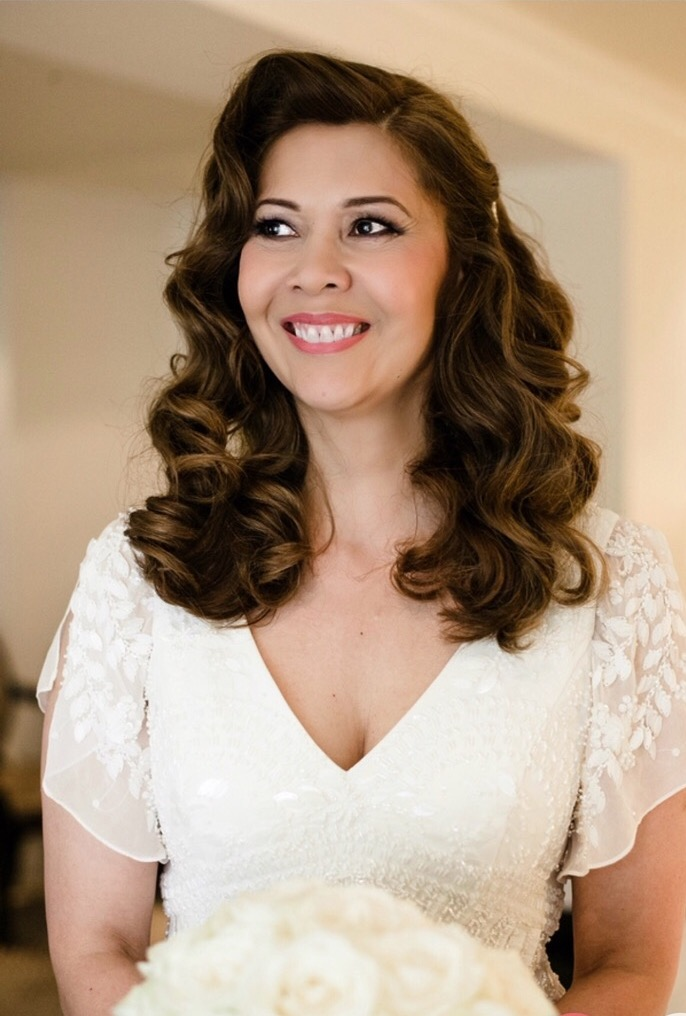 vintage bridal hairstyle hollywood waves by Pam Wrigley