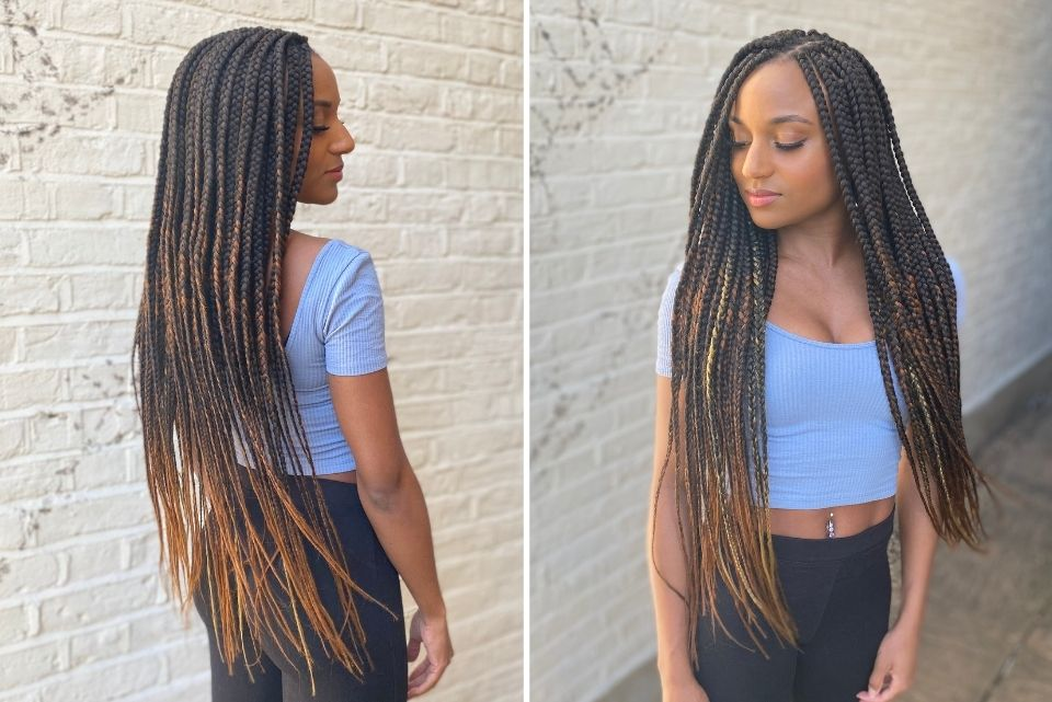 hairstyles for Afro hair bridal box braids and extensions