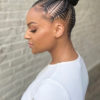 hairstyle Afro hair bridal stitch feed-in braid